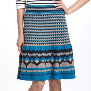 Anthropologie Blue Mesa Sweater Skirt